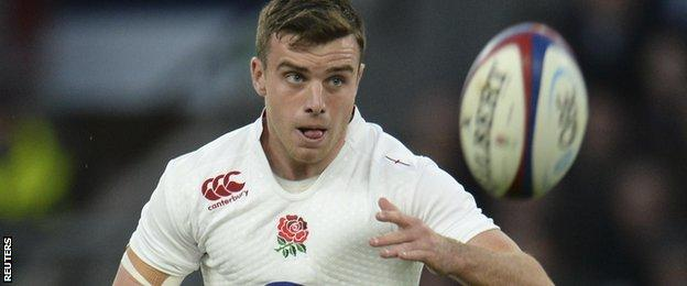 George Ford kicks for goal against South Africa