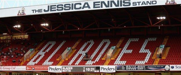 Jessica Ennis Stand at Bramall Lane