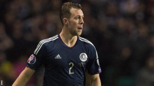 Scotland defender Steven Whittaker