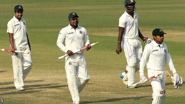 Bangladesh celebrate their series whitewash against Zimbabwe