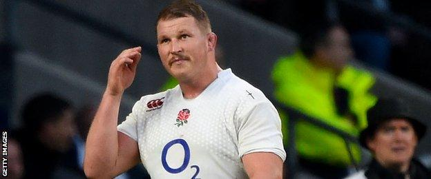 Dylan Hartley walks from the field after being sin-binned against South Africa