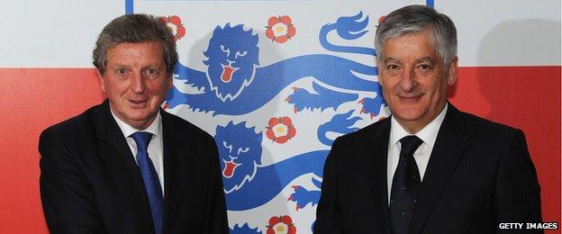 David Bernstein and Roy Hodgson