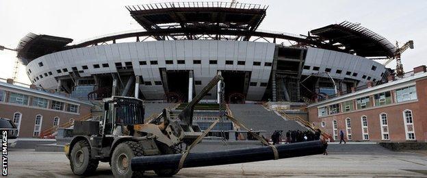 Zenit Arena football stadium in St. Petersburg, Russia
