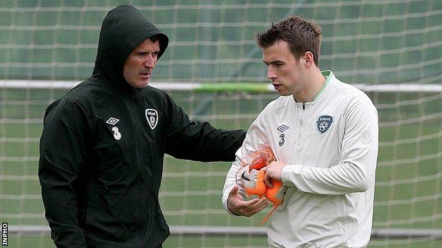 Roy Keane and Seamus Coleman