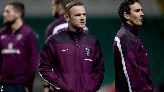 Wayne Rooney at Celtic Park