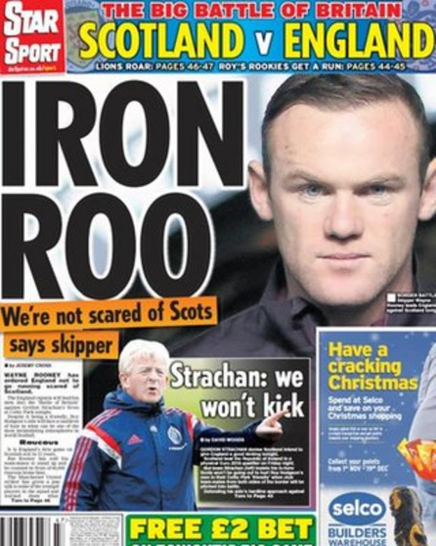 Tuesday's Daily Star backpage