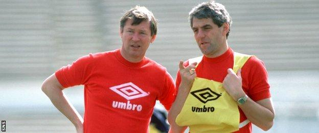 Alex Ferguson and Walter Smith
