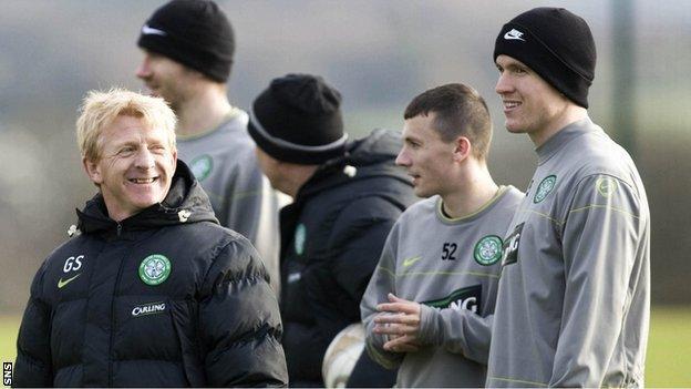 Gordon Strachan and Gary Caldwell at Celtic