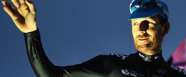 Sir Bradley Wiggins of Team Sky and Great Britain