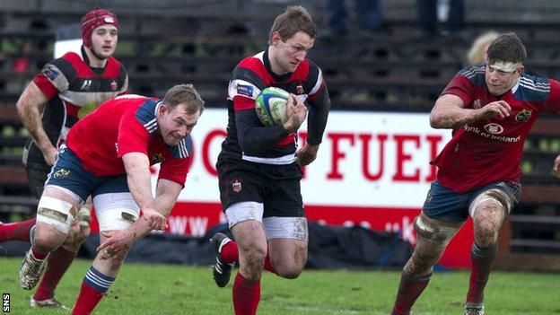 Fraser Lyle in action for Stirling County
