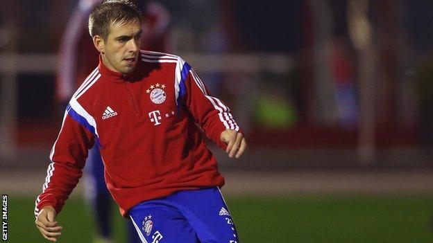 Philipp Lahm of Bayern Munich