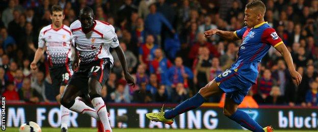 Dwight Gayle equalises for Crystal Palace