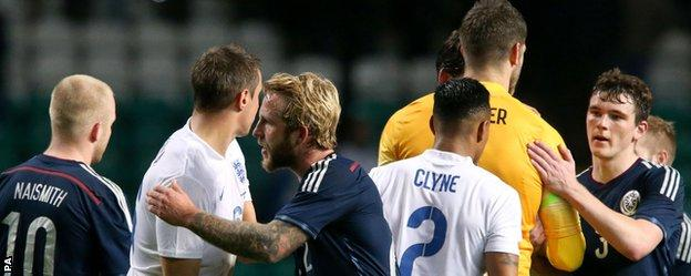Scotland suffered defeat by England at Celtic Park