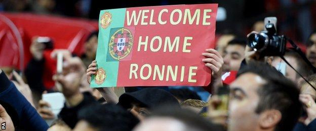 Many Manchester United fans came to watch Cristiano Ronaldo play for Portugal