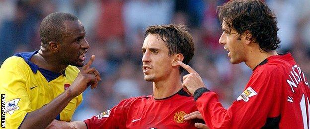 Patrick Vieira and Ruud van Nistelrooy