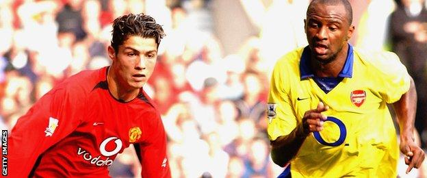 Cristiano Ronaldo and Patrick Vieira