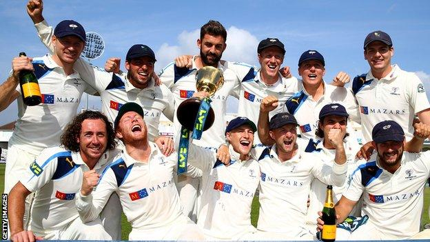 Yorkshire win the 2014 County Championship