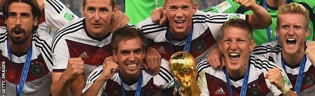 Germany with the World Cup