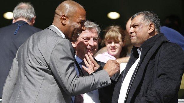 Les Ferdinand, Roy Hodgson and Tony Fernandes