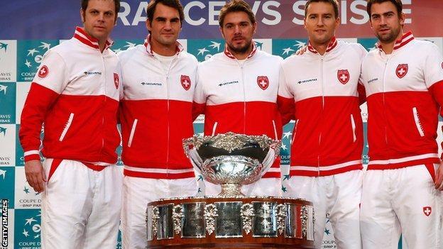 The Swiss Davis Cup team