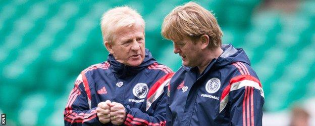 Scotland coach Gordon Strachan and assistant Stuart McCall