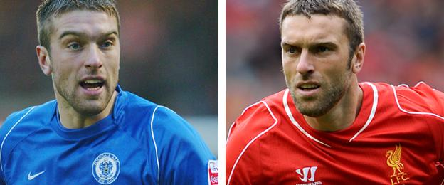 Liverpool striker Rickie Lambert rebuilt his career in the lower divisions after being released by the Reds as a teenager