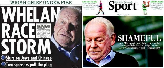 The Sun back page and Daily Telegraph sport section front page