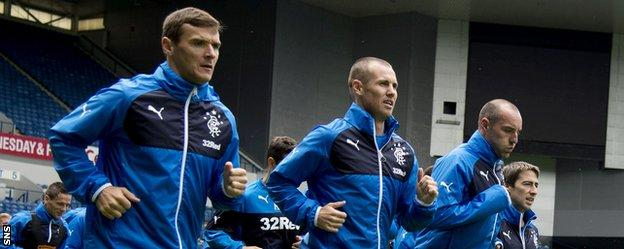 Lee McCulloch, Kenny Miller and Kris Boyd