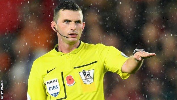 Premier League referee Michael Oliver