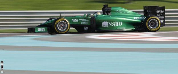 Kamui Kobayashi for Caterham - who missed the previous two races after entering administration