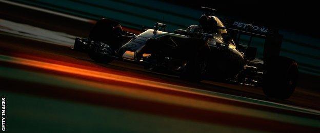 Lewis Hamilton at the Abu Dhabi Grand Prix