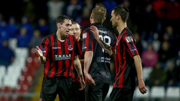 Gavin Whyte opened the scoring for Crusaders against Coleraine in Friday night's Premiership game