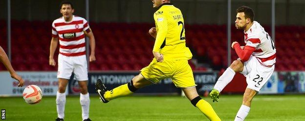 Tony Andreu notched the opener for Hamilton with an excellent finish