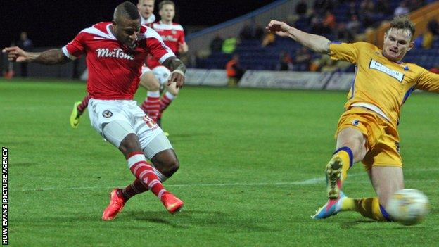 Newport County striker Aaron O'Connor