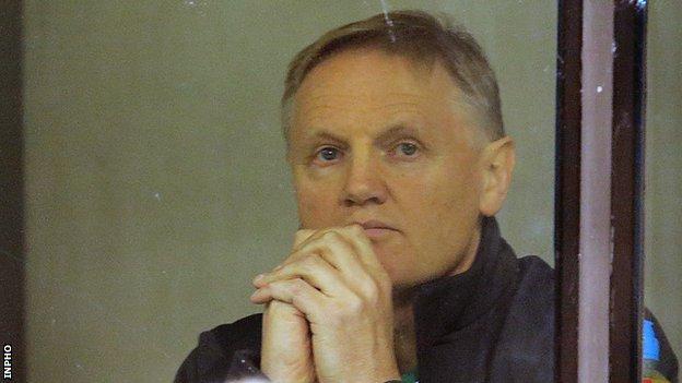 Ireland coach Joe Schmidt watches his team's win over Australia