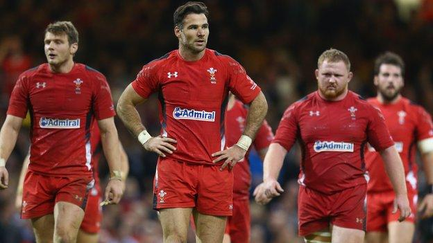 Mike Phillips looks dejected as Wales are beaten by New Zealand