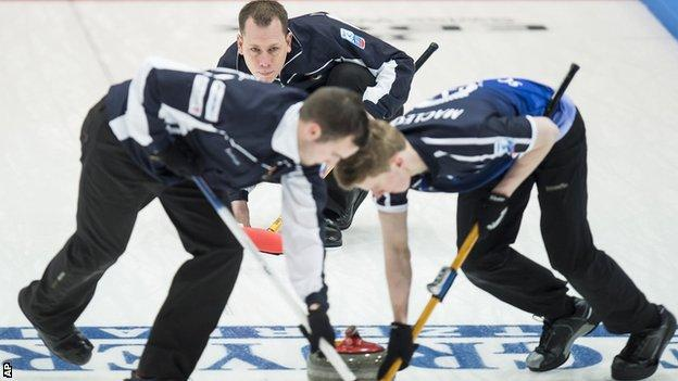 David Edwards' rink represent Scotland in the European Curling Championships