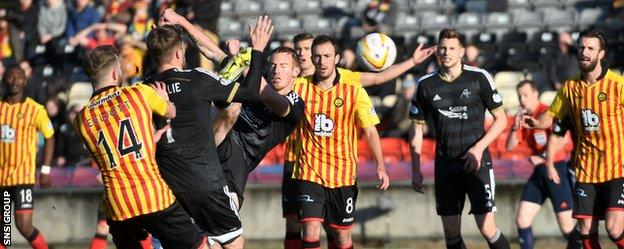 Adam Rooney had an early effort disallowed for a push