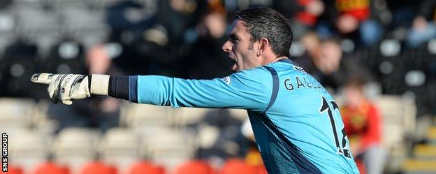 Paul Gallacher was much the busier of the two goalkeeper at Firhill