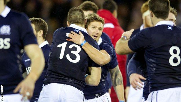 Scotland beat Argentina and Tonga during the autumn Test series