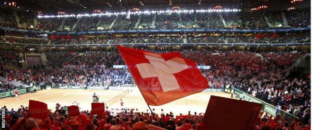 World record crowd watch Switzerland v France