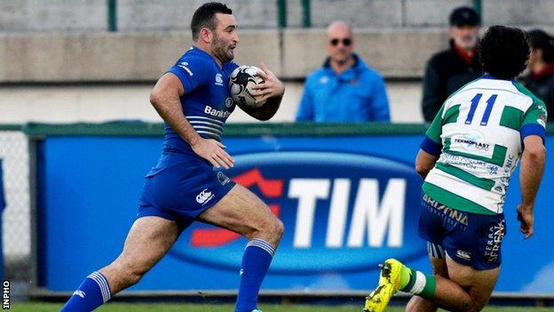 Dave Kearney scored a try on his return to action for the first time since May