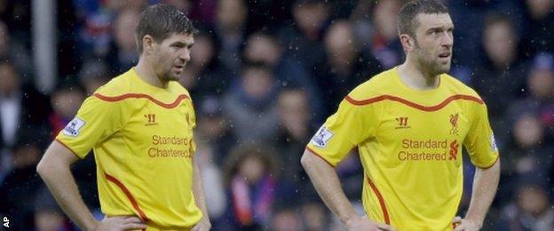 Steven Gerrard and Rickie Lambert, Liverpool v Crystal Palace