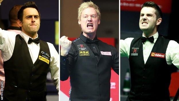 Ronnie O'Sullivan, Neil Robertson and Mark Selby