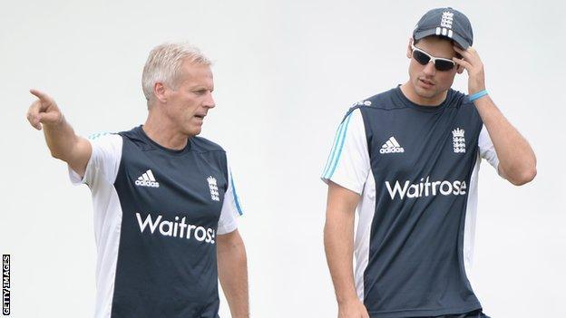 Peter Moores & Alastair Cook
