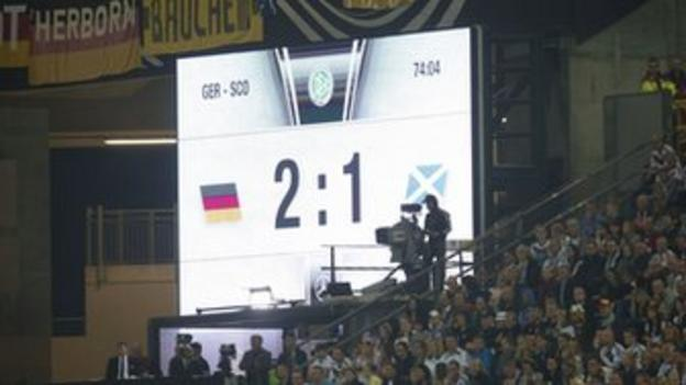 Scotland lose 2-1 in Germany