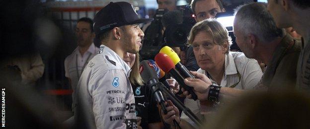 Lewis Hamilton interviewed
