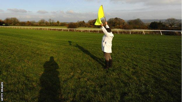 Horse racing's yellow flag