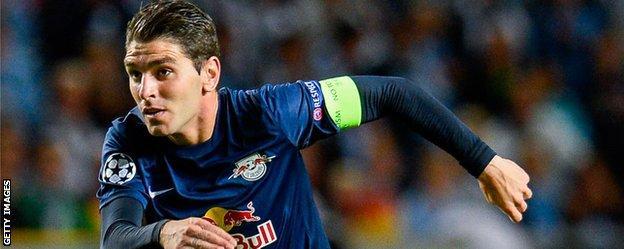 Salzburg striker Jonathan Soriano