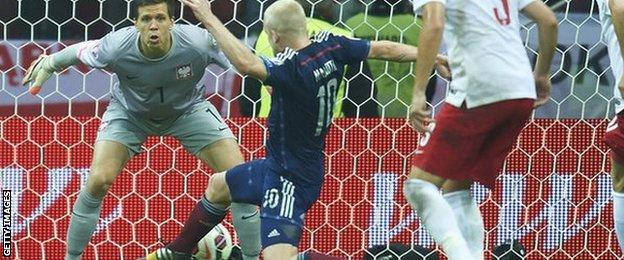 Steven Naismith scoring against Poland
